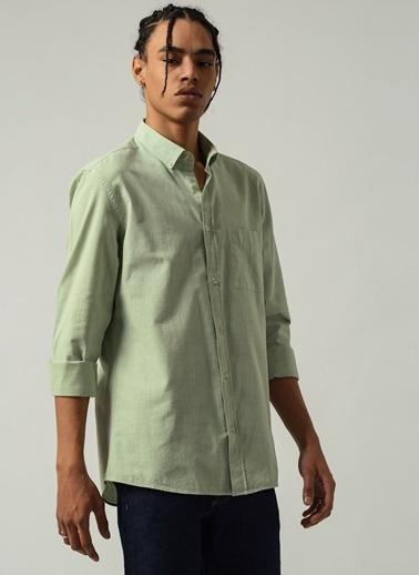 People By Fabrika Erkek Düğmeli Yaka  Gömlek PFESS21GM0017 Yeşil